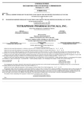 Tetraphase Pharma Inc