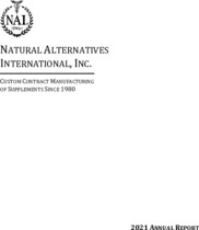Natural Alternatives International, Inc.