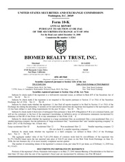 BioMed Realty Trust Inc.