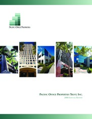 Pacific Office Properties Trust, Inc.