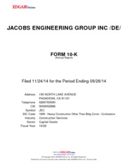 Jacobs Engineering Group, Inc.