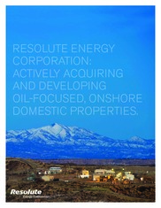 Resolute Energy Corp