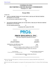 PROS Holdings, Inc.