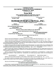 Tower International inc
