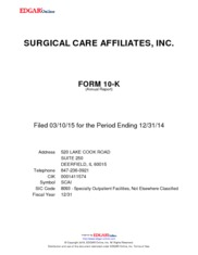 Surgical Care Affiliate