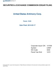 United State Antimony