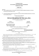 Titan Pharmaceuticals Inc.