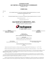 Rackspace Hosting, Inc.