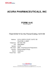 Acura Pharmaceuticals, Inc.