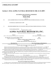 Alpha Natural Resources, Inc.