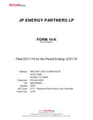 JP Energy Partners LP
