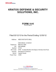 Kratos Defense & Security Solutions, Inc.