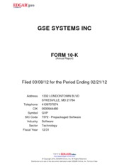 GSE Systems Inc.