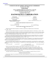 Haemonetics Corporation
