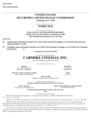 Carmike Cinemas Inc.