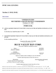 Blue Valley Ban Corp.