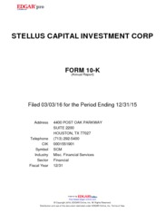 Stellus Capital Investment Corp