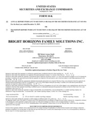 Bright Horizons Family Solutions Inc
