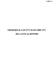 Frederick County Bancorp, Inc.
