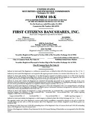 First Citizens BancShares Inc.