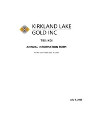 Kirkland Lake Gold Inc.