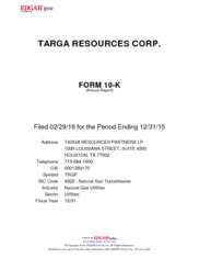 Targa Resources Partners LP