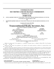 Transcontinental Realty Investors, Inc.