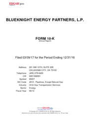 Blueknight Energy Parnters, L.P.