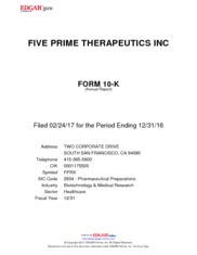 Five Prime Therapeutics Inc