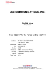 LSC Communications Inc.