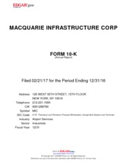 Macquarie Infrastructur