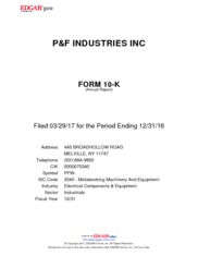 P&F Industries