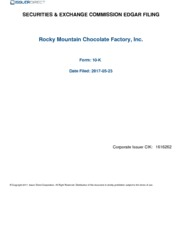 Rocky Mountain Chocolate Factory Inc.