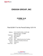 The Ensign Group, Inc.