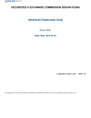 American Resources Corporation