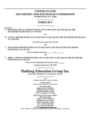 Hailiang Education Group Inc.