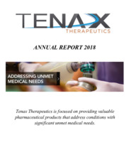 Tenax Therapeutics, Inc.