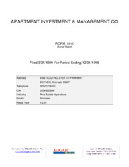 Apartment Investment and Management Company